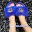 รองเท้าแตะขนฟูนุ่มประดับอะไหล่ลายเสือ thumbnail 3