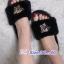 รองเท้าแตะขนฟูนุ่มประดับอะไหล่ลายเสือ thumbnail 4