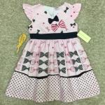เสื้อผ้าเด็ก 5-7ปี size 5Y-6Y-7Y ลายโบว์ สีชมพู