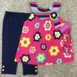 เสื้อผ้าเด็กเซต เสื้อ+เลกกิ้ง+สายคาดผม 3-5ปี size 3Y-4Y-5Y