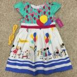 เสื้อผ้าเด็ก 5-7ปี size 5Y-6Y-7Y ลายลูกโป่ง สีเขียว/ขาว