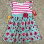 เสื้อผ้าเด็ก 5-7ปี size 5Y-6Y-7Y ลายดอกไม้/ริ้วขวาง สีชมพู/เขียวมิ้น