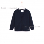 Kids Knit cardigan : V-neck cardigan with long sleeves.