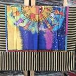 ผ้าพันคอ ชีฟอง สกรีนลาย Chiffon CF01-045