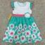 เสื้อผ้าเด็ก 5-7ปี size 5Y-6Y-7Y ลายดอกไม้ สีเขียวมิ้นต์/ขาว thumbnail 1