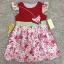 เสื้อผ้าเด็ก 5-7ปี size 5Y-6Y-7Y ลายดอกไม้ แต่งผีเสื้อ สีแดง thumbnail 1