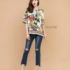 Zara top เสื้อคอกลมผ่าอกเล็กสไตล์ซาร่า