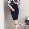 Lady Amira Feminine Flower pattern Chiffon Department Crepe Skirt Set