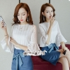 Lace Embroidered Cotton White Korea Style