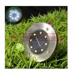 Solar Garden Light 8LED โคมไฟตกแต่งสนามหญ้า ฝังพื้นโซล่าเซลล์