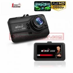 FIRST SCENE D-108 กล้องติดรถยนต์ 170ºG-sensor IPS WDR HDR จอ3นิ้ว full hd 1080P