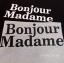 เสื้อยืดคอกลม แขนสั้นสกรีนอก Bonjour Madame thumbnail 9