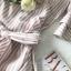 Pink Stripe Short-Sleeved Shirt Korea Style thumbnail 9