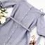 Lady Chic Shoulder Dress Cutting Blue&White Square cloth thumbnail 16