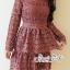 Minidress Lace Fishtail Cocktail Dress Korea Style thumbnail 4