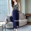 Spot Floral Bead Jumpsuit With Long Outer Set thumbnail 13
