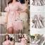 Pink Stripe Short-Sleeved Shirt Korea Style thumbnail 5