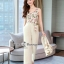 Spot Floral Bead Jumpsuit With Long Outer Set thumbnail 5