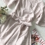 Pink Stripe Short-Sleeved Shirt Korea Style thumbnail 8