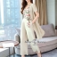 Spot Floral Bead Jumpsuit With Long Outer Set thumbnail 2