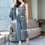 Spot Floral Bead Jumpsuit With Long Outer Set thumbnail 10