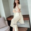 Spot Floral Bead Jumpsuit With Long Outer Set thumbnail 3
