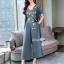 Spot Floral Bead Jumpsuit With Long Outer Set thumbnail 8