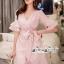 Pink Stripe Short-Sleeved Shirt Korea Style thumbnail 3