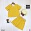 Ste 2 ชิ้น เสื้อคอวี+กางเกงกระโปรงผ่าหน้า thumbnail 5