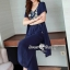 Spot Floral Bead Jumpsuit With Long Outer Set thumbnail 12