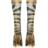 Elastic Adult Animal Paw Crew Socks Sublimated Print Inspired Party Fancy Dress - intl