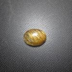 แก้วไหมทอง เส้นแกร่งสวยเต็มเม็ดงามมาก 1.6x 1.2 cm ทำแหวน จี้สวยๆ