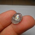 แก้วขนเหล็กประกายรุ้ง สวย ขนาด 1.5x 1.2 cm ทำหัวแหวน