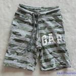 GapKids : กางเกงขาสั้นเด็กชาย ผ้า cotton ยืด ใส่สบาย เชือกปรับ ลดได้ (งานป้าย) size : 2 / 4 / 6 / 8 / 10 / 12 / 14