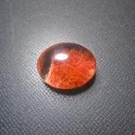 แก้วปวกแดง สีหายาก น้ำใสมาก A++ ขนาด 2.2x 1.7cm เหมาะทำแหวน ทำจี้