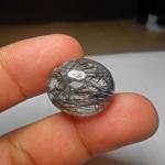 แก้วขนเหล็กประกายรุ้ง เส้นคมแกร่งสวย น้ำใส ขนาด 2.2x1.8cm ทำแหวน จี้