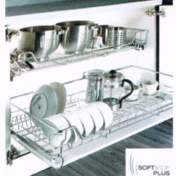 ชุดตะแกรงจัดเก็บติดในตู้ (บน) หน้าบานกว้าง 900 มม. รุ่น HG-301103