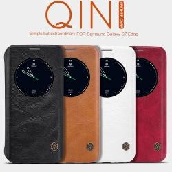 เคสมือถือ Samsung Galaxy S7 Edge รุ่น Qin Leather Case (Circle View)