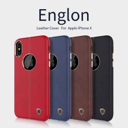 เคสมือถือ Apple iPhone X รุ่น Englon Leather Cover