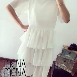 ชุดคลุมท้อง : ชุดคลุมท้องแฟชั่น ชุดเดรสคนท้อง White summer dress คนท้อง