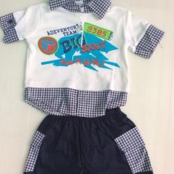 ชุดเด็กชายสองชิ้นขายส่ง 6ชุด size 3-6-9 เดือน