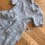 เดรสผ้าลูกไม้สีเทาอ่อนทรงแขนสั้นตกแต่งเลเยอร์ thumbnail 18