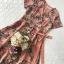 เดรสเนื้อผ้าเครปพิมพ์ลายดอกไม้โทนสีพาสเทลหวานๆ thumbnail 10