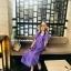 ชุดคนท้องสีม่วง Korea Minimal Botton Dress thumbnail 1