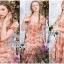 เดรสผ้าลูกไม้ทอลายดอกเดซี่สีพีช thumbnail 2