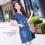 เดรสเกาหลี พร้อมส่ง dress ทรง a ทรงใส่น่ารัก thumbnail 6