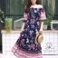 ชุดเดรสเกาหลี พร้อมส่ง Maxi dress ปริ้นลายดอกแต่งเชิงชาย thumbnail 13