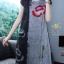 เดรสเกาหลี พร้อมส่ง เดรสผ้าคอตตอนผสมลินิน ลายดอกฝิ่น thumbnail 4