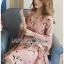 เดรสเกาหลี พร้อมส่ง ชุดเดรส สีชมพูพิมพ์ลายดอกไม้ thumbnail 10