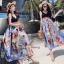 ชุดเดรสเกาหลี พร้อมส่ง ชุด Maxi Dress เกาหลี thumbnail 10